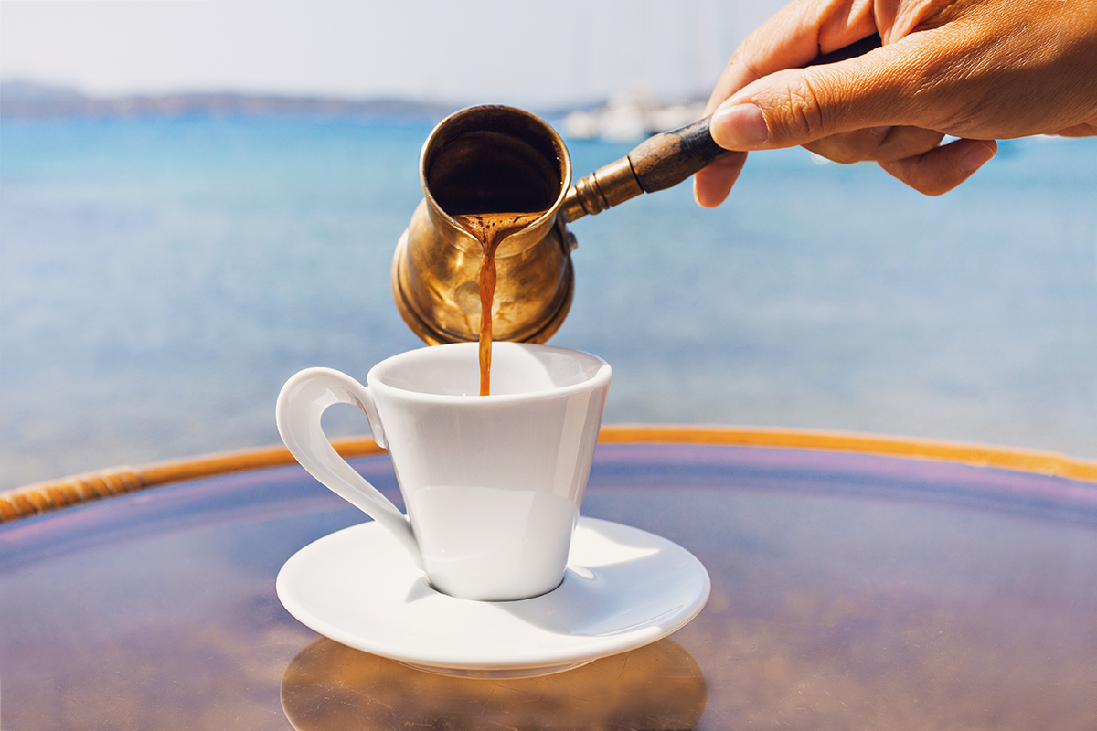 Drink coffee like a Greek
